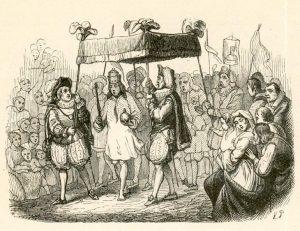 ¿Va sin ropa el rey? Ilustración original del siglo XIX. Fuente: Wikipedia