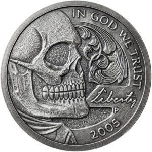 imagen tomada de: https://www.jmbullion.com/5-oz-antique-jefferson-skull-hobo-nickel-silver-round/